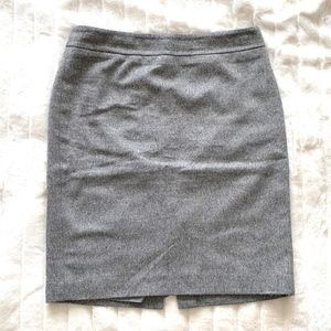 Gray and Black Flecked Pencil Skirt